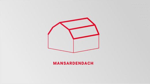 Grafische Darstellung eines Mansardendaches