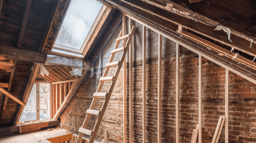 Ein Dachboden wird ausgebaut