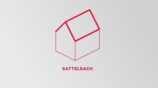 Grafische Darstellung eines Satteldaches