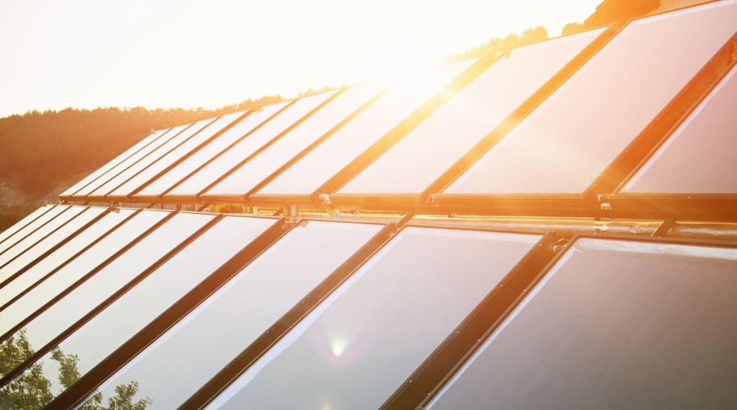 Eine Photovoltaikanlage auf dem Dach