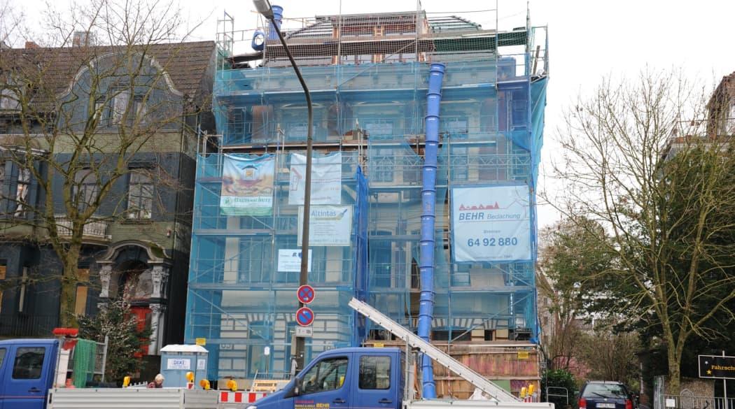 Dachausbau mit Innenausbau: ein Bremer Bürgerhaus wird saniert