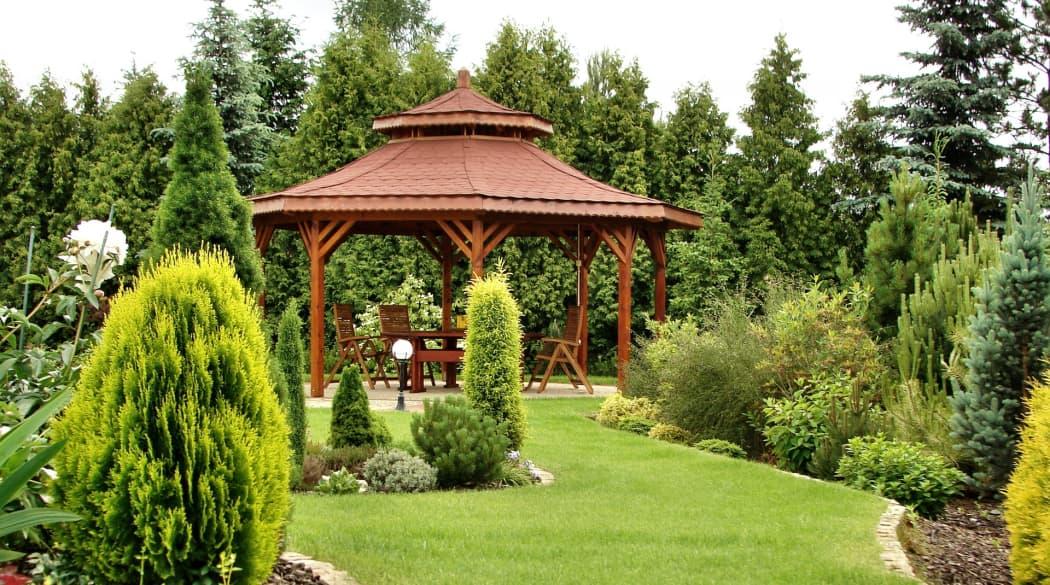 Gartenhaus mit Holzschindeln