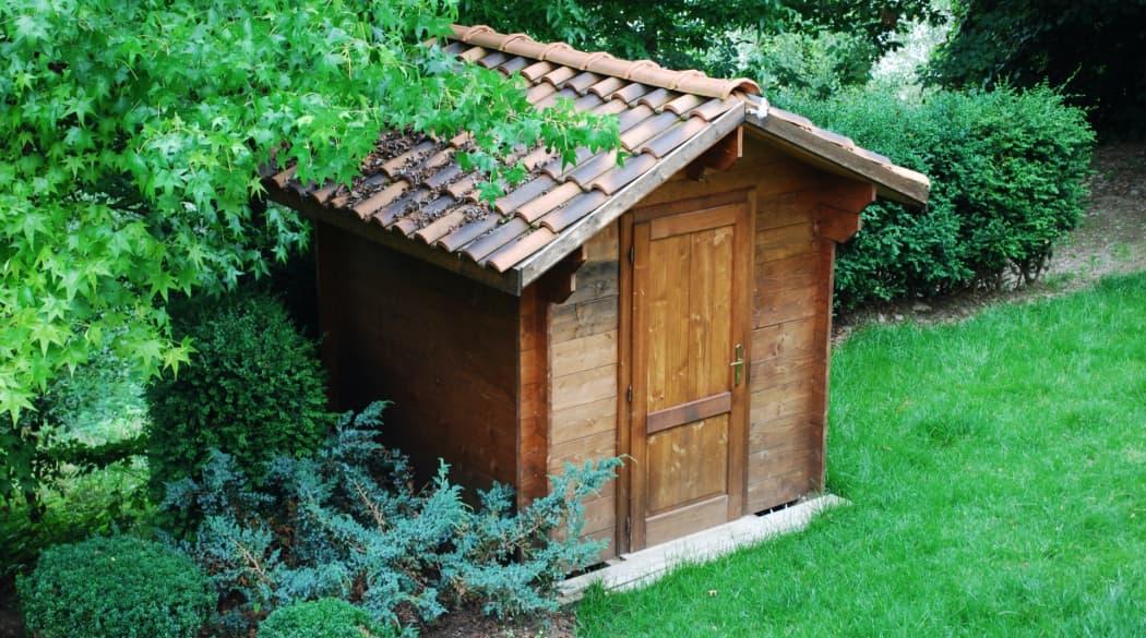 Gartenhaus mit Tonziegeln