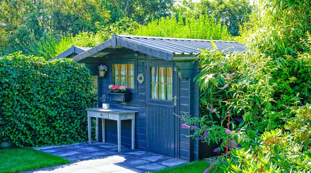 Gartenhaus mit Trapezblech-Dach