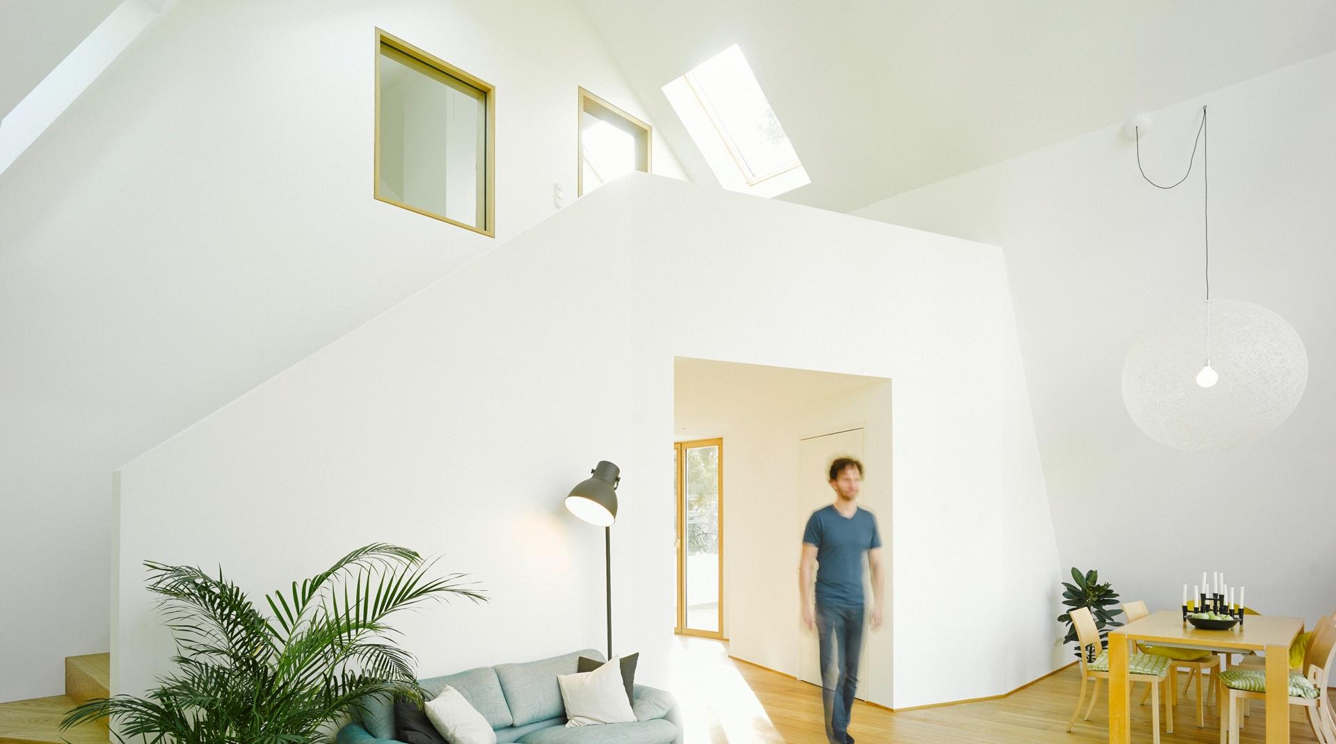Gründerzeitvilla mit Dacherweiterung: Ansicht des Innenraumes