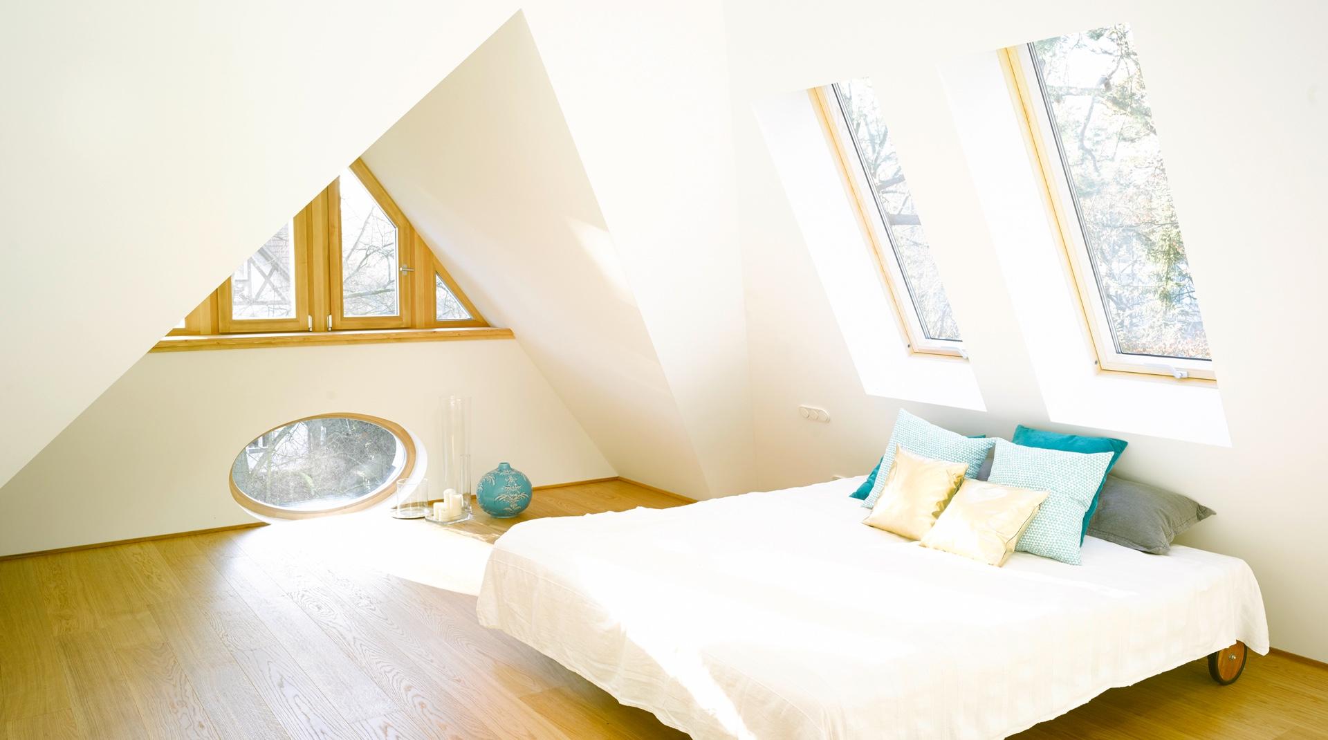 Gründerzeitvilla mit Dacherweiterung: das Schlafzimmer