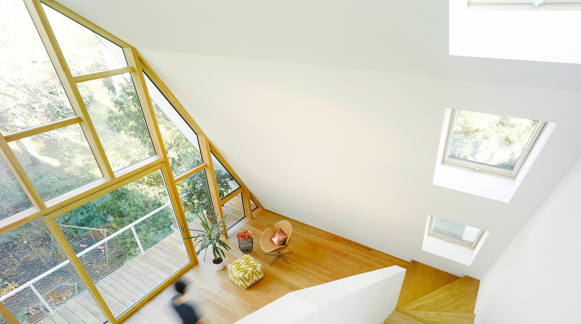 Gründerzeitvilla mit Dacherweiterung: die Treppe