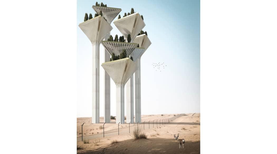 Häuser der Zukunft: Die futuristische City of 8 golden rings von Wafai erinnern etwas an Star Wars
