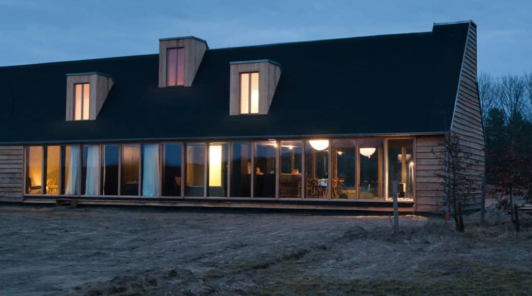 Thomas Kröger Architekt: das Schwarze Haus in der Uckermark in der Entstehung