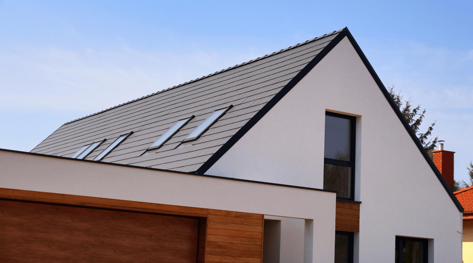 Modernes Haus ohne Dachüberstand