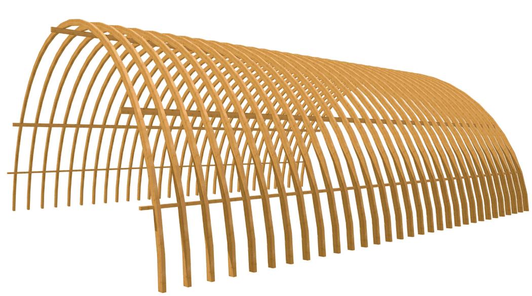 Die Konstruktion eines Tonnendaches