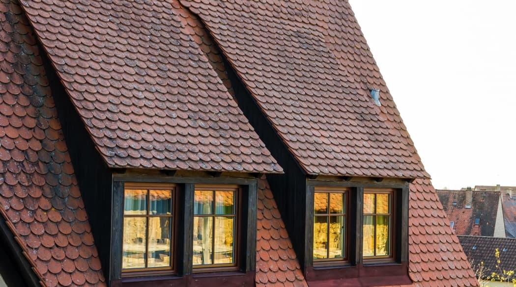 Ein Dach mit zwei Schleppgauben