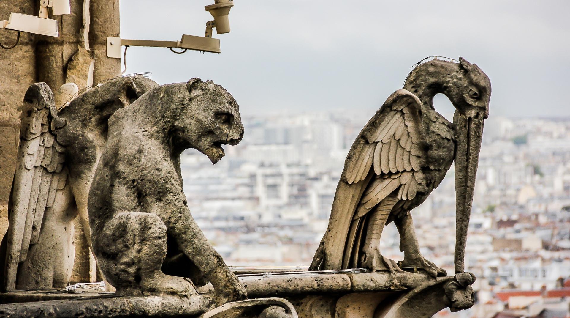 Dachschmuck: Wasserspeier auf der Kirche Notre-Dame