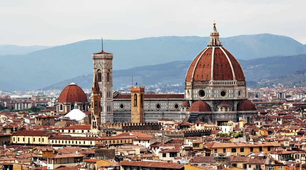 Kathedrale von Florenz mit Blick über die Stadt