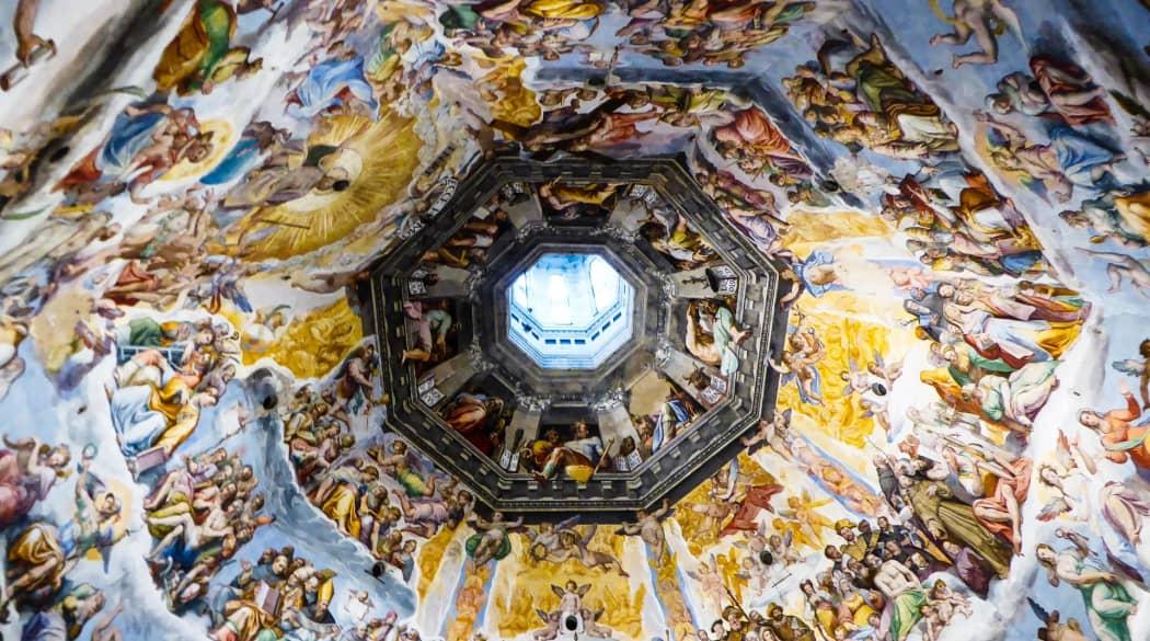 Kuppel der Kathedrale von Florenz von innen