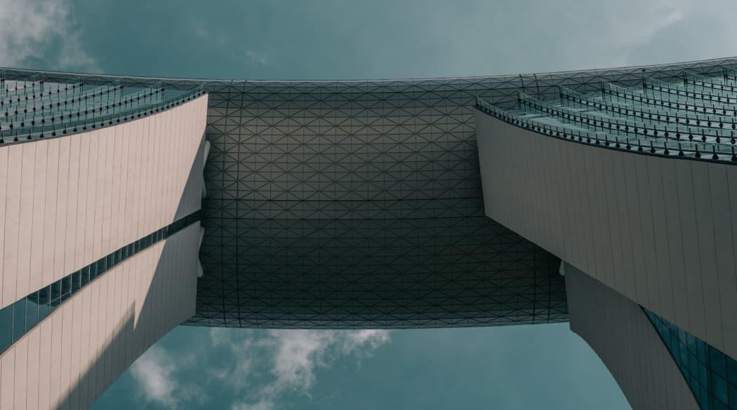 Marina Bay Sands von unten
