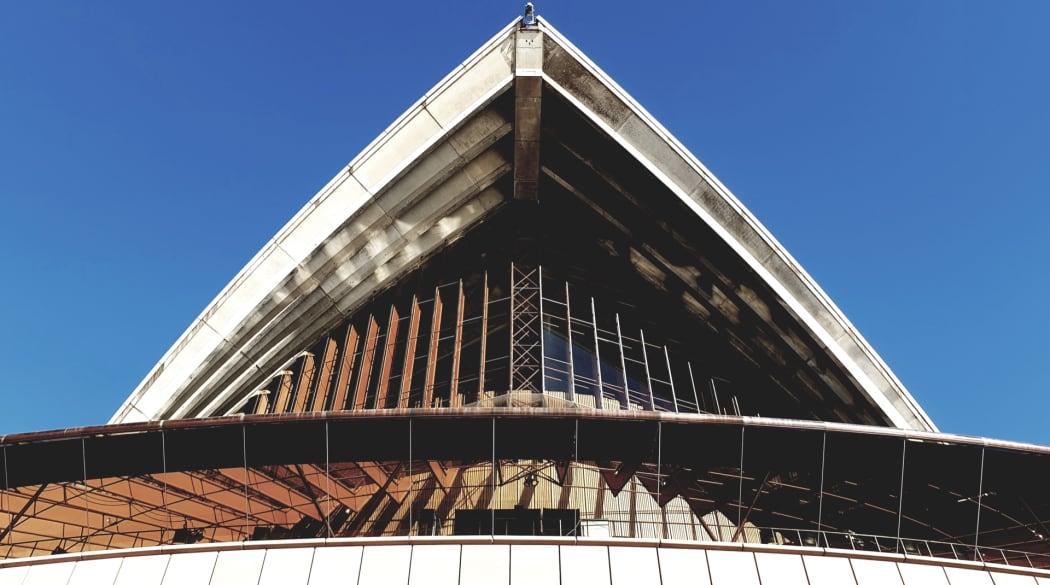 Frontansicht der Oper in Sydney