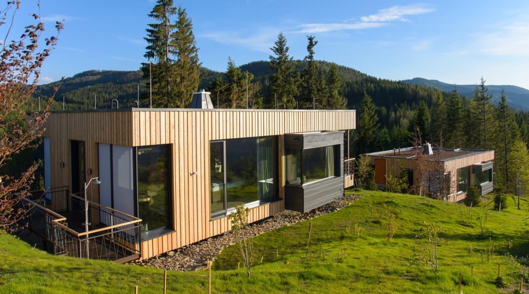 Mountain Chalets in Turnau, Österreich: vier Vogelhäuser deluxe mit Holzfassade