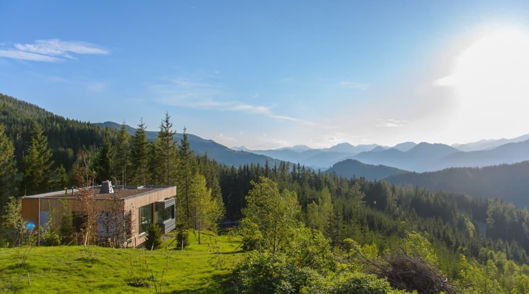 Mountain Chalets in Turnau, Österreich: vier Vogelhäuser deluxe mit atemberaubender Aussicht über das Tal