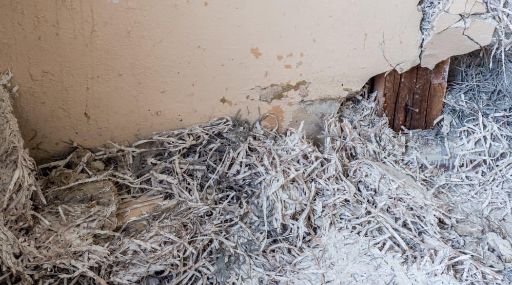 Asbest in einer Wand