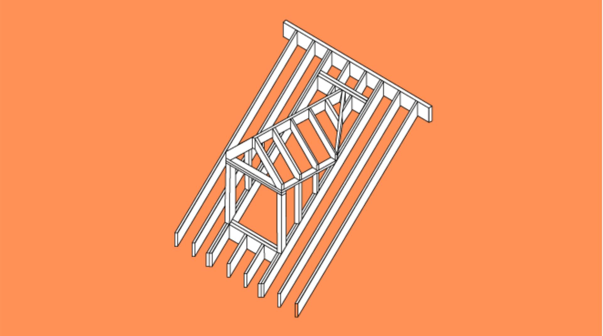 Schema Satteldachgaube im Dach