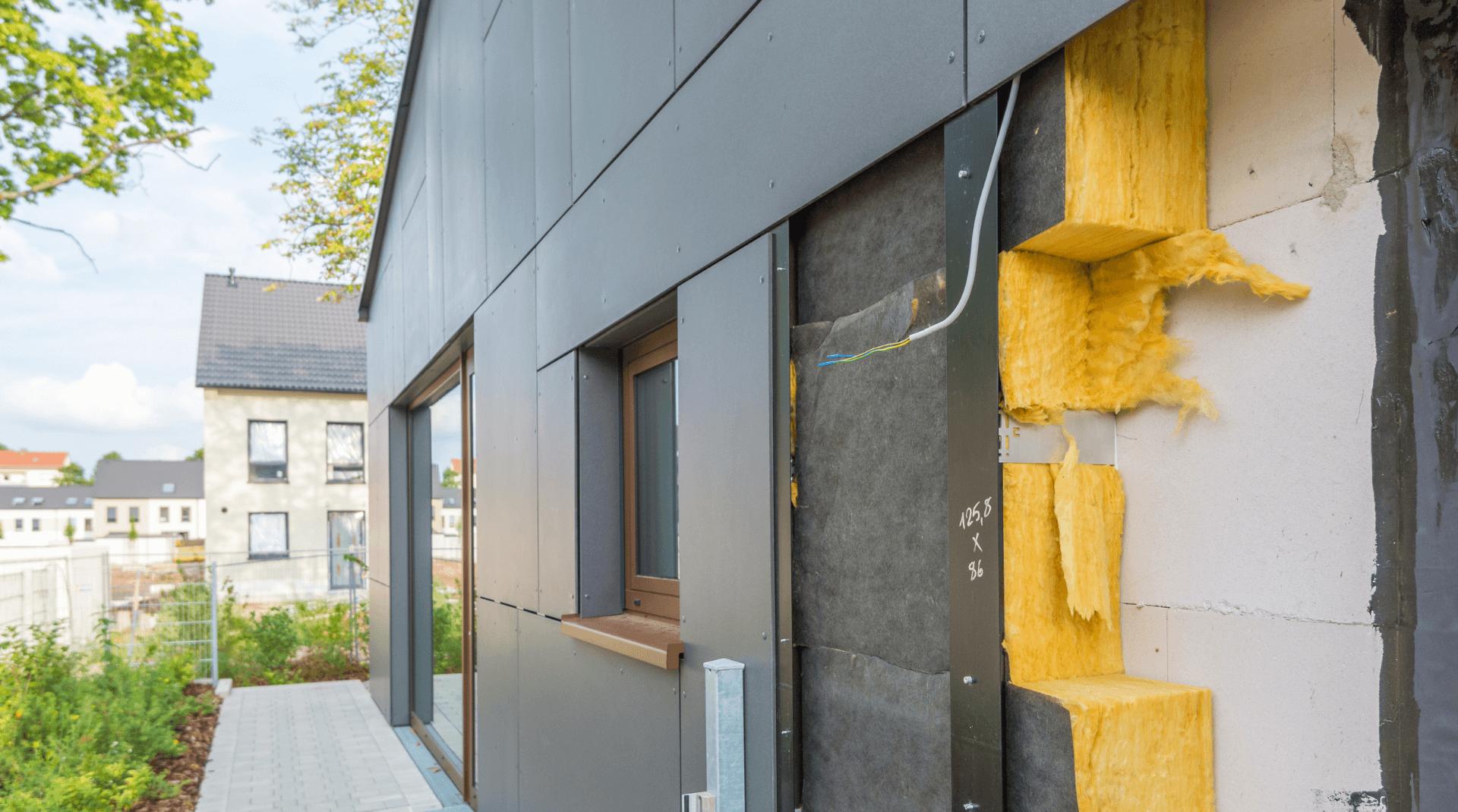 Energetische Wanddämmung von außen