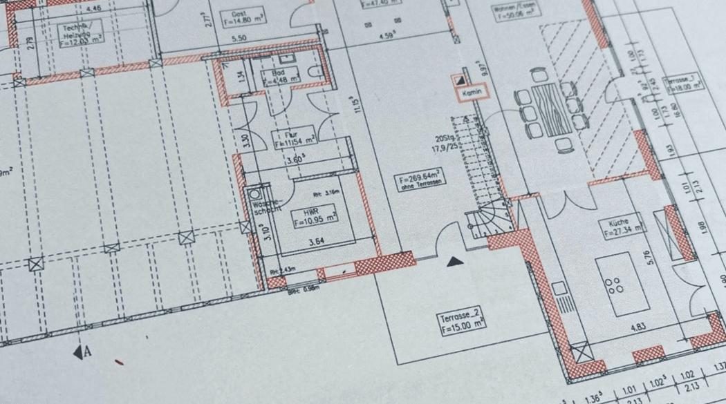 Resthof Talge: Architektenplan