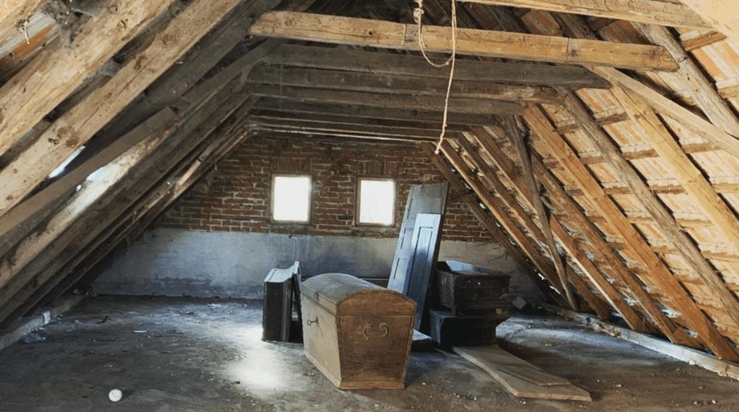 Resthof Talge: Dachstuhl von innen