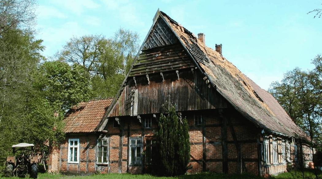 Resthof Talge: Giebelseite Wohnhaus